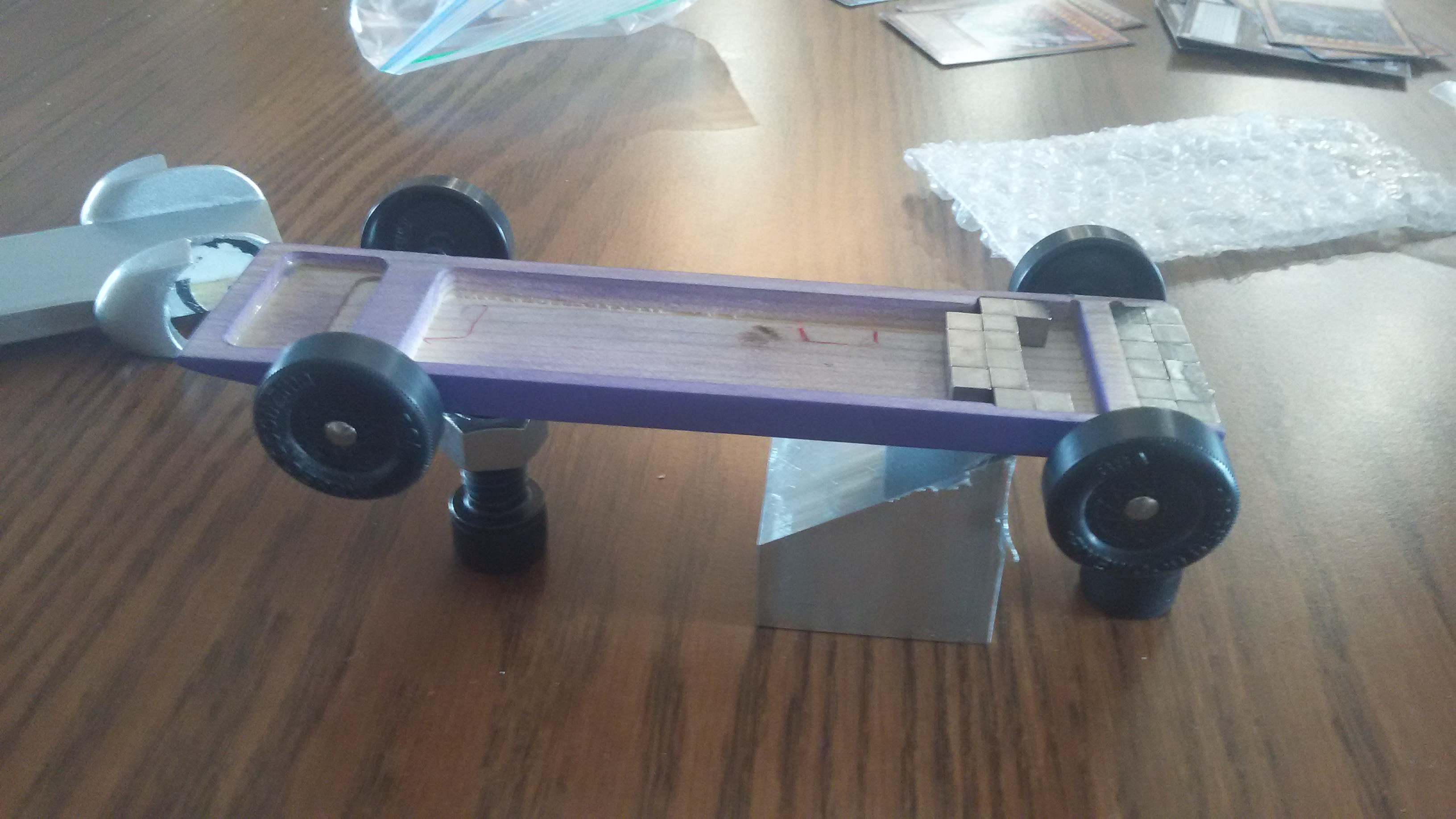Best place for weight on pinewood derby car